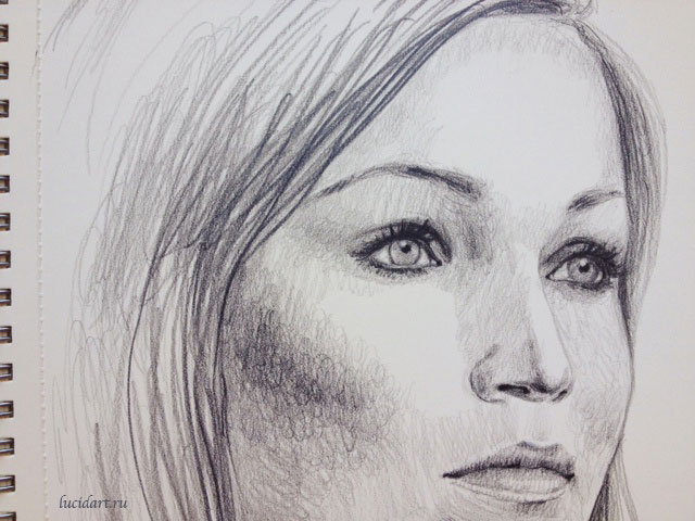Tarja Turunen drawing closeup
