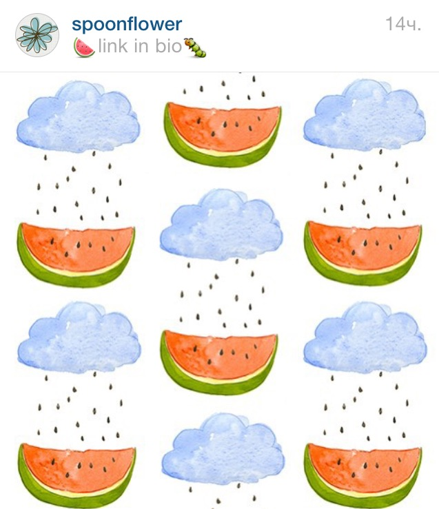 Spoonflower Watermelon